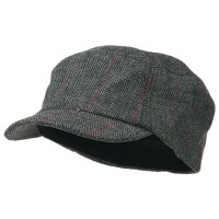 Cadet - Black Wool Fashion Fitted Engineer Cap