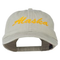 Embroidered Cap - Alaska Embroidered Washed Cap