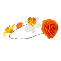 Costume - Orange Women's Flower Wreath Hair Piece