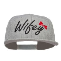 Embroidered Cap - Heather Grey Wifey Embroidered Snapback