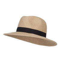 Fedora - Tan Tweed UPF Women's Large Brim Fedora