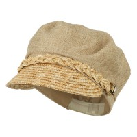 Newsboy - Women's Linen Greek Cabbie Cap | Free Shipping | e4Hats.com