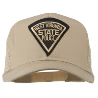 Embroidered Cap - Khaki West Virginia Police Patched Cap