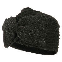 Wrap - Charcoal Women's Ribbon Knit Turban