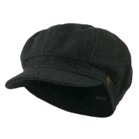 Newsboy - Dark Grey Wool Solid Spitfire Hat