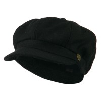Newsboy - Black Wool Solid Spitfire Hat