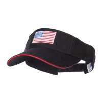 Visor - American Flag Embroidered Visor | Free Shipping | e4Hats.com