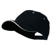 Ball Cap - Navy White Wave Visor Brushed Cotton Cap