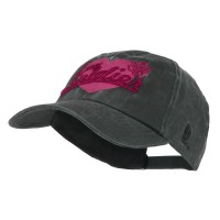 Embroidered Cap - Black US Army Woman's Washed Cap