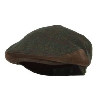 Ivy - Green Men's Plaid Wool Suede Ivy Cap