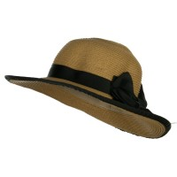 Dressy - Black Girl's UPF 50+ Wide Brim Sun Hat