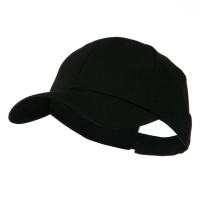 Ball Cap - Black Youth Athletic Jersey Mesh Cap