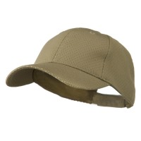 Ball Cap - Khaki Youth Athletic Jersey Mesh Cap