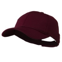 Ball Cap - Maroon Youth Athletic Jersey Mesh Cap