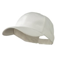 Ball Cap - White Youth Athletic Jersey Mesh Cap