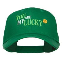 Embroidered Cap - You Are My Lucky Cotton Cap