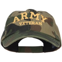 Embroidered Cap - Camo Army Veteran Embroidered Camo Cap