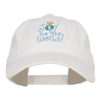 Embroidered Cap - Joy to the World Embroidered Cap | Free Shipping | e4Hats.com