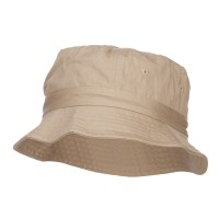 Bucket - Khaki Youth Dyed Washed Bucket Hat