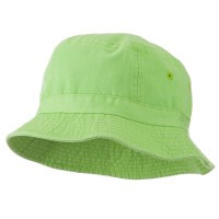 Bucket - Apple Green Youth Dyed Washed Bucket Hat