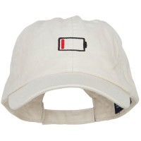 Embroidered Cap - Low Battery Symbol Cotton Cap