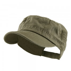 Cadet - Olive Enzyme Regular Solid Army Cap | Coupon Free | e4Hats.com