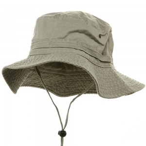 Outdoor - Beige Pigment Dyed Bucket | Coupon Free | e4Hats.com