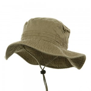 Outdoor - Khaki Dyed Twill Washed Buckets | Coupon Free | e4Hats.com
