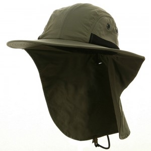 Flap Cap - Olive UV 4 Panel Large Bill Flap Hat | Coupon Free | e4Hats.com