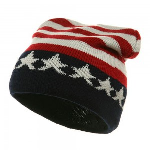Beanie - USA Flag Printed Beanie USA Flag | Coupon Free | e4Hats.com