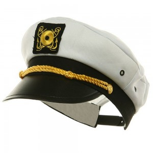 Costume - White Adjustable Child Yacht Cap | Coupon Free | e4Hats.com