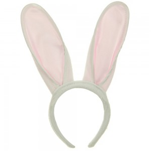 Costume - White Pink Ear Hat | Coupon Free | e4Hats.com