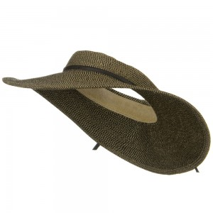 Visor - Black Tweed Tweed UPF50+ Crownless Wide Visor | Coupon Free | e4Hats.com