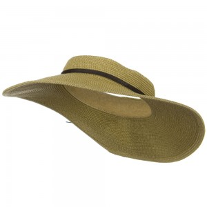 Visor - Tan Tweed UPF50+ Crownless Wide Visor | Coupon Free | e4Hats.com