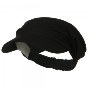 Visor - Black Cotton Elastic B, Visor | Coupon Free | e4Hats.com