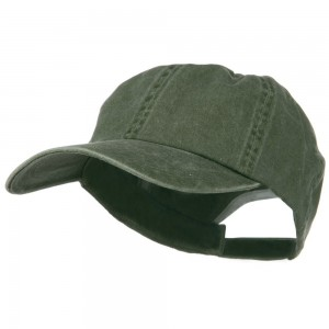Ball Cap - Olive Big Size Washed Cotton Cap