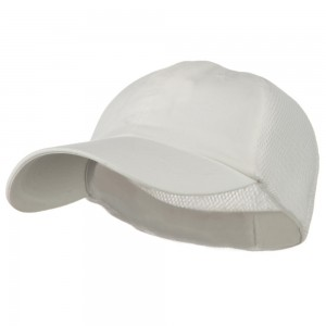 Ball Cap - White Big Size Summer Mesh Flexible Cap | Coupon Free | e4Hats.com