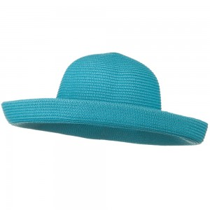 Dressy - Turquoise Sewn Braid Kettle Brim Hat