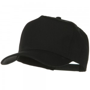 Ball Cap - Black Solid Cotton Twill Pro style Golf Cap | Coupon Free | e4Hats.com