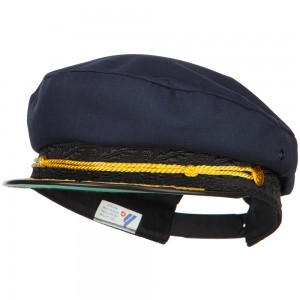 Costume - Navy Adjustable Cotton Captain Hat