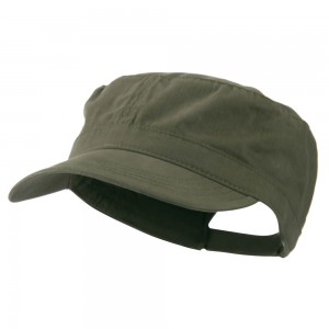 Cadet - Olive Adjustable Cotton Military Cap