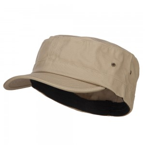 Cadet - Khaki Big Size Fitted Trendy Army Style Cap | Coupon Free | e4Hats.com