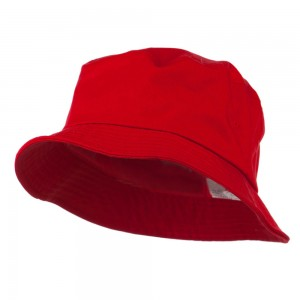 Bucket - Red Big Size Cotton Blend Bucket Hat | Coupon Free | e4Hats.com