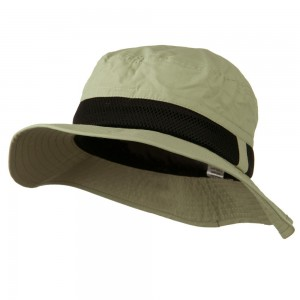 Bucket - Khaki Big Size Talson Side Mesh Bucket | Coupon Free | e4Hats.com