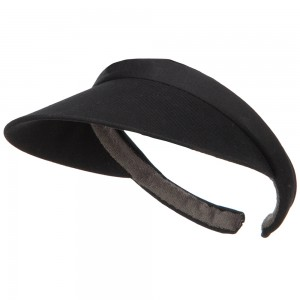Visor - Black Cotton Small Clip On 3