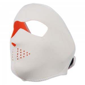 Face Mask - Orange White Neoprene Full Face Mask | Coupon Free | e4Hats.com