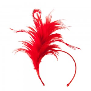 Dressy - Red Fancy Feather Fascinator | Coupon Free | e4Hats.com