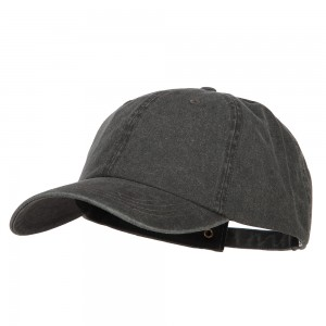 Ball Cap - Black Big Size Washed Pigment Dyed Cap | Coupon Free | e4Hats.com