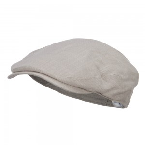 Ivy - Beige Men's Linen Summer Ivy Cap | Coupon Free | e4Hats.com