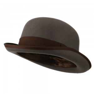 Dressy - Grey Chocolate Men's Felt Bowler Hat | Coupon Free | e4Hats.com